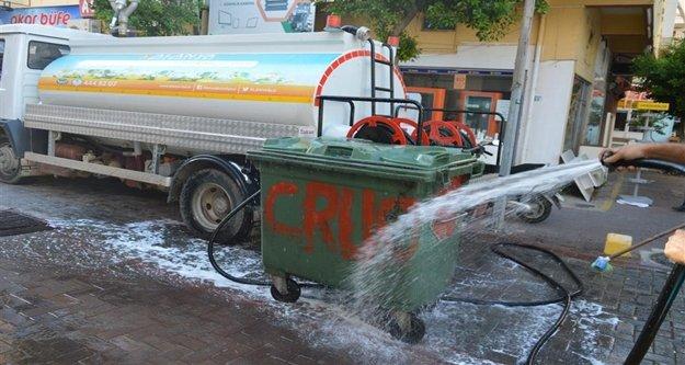 Alanya'da bayram sonrası temizlik