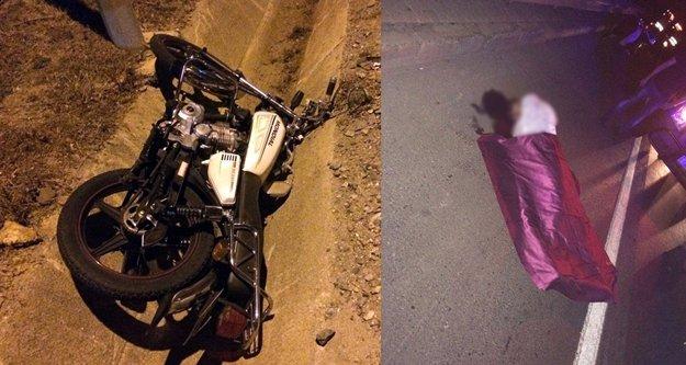 Alanya'da motosikletli gencin şüpheli ölümü
