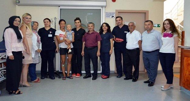 Alanya'nın sağlık çalışanları bayramlaştı