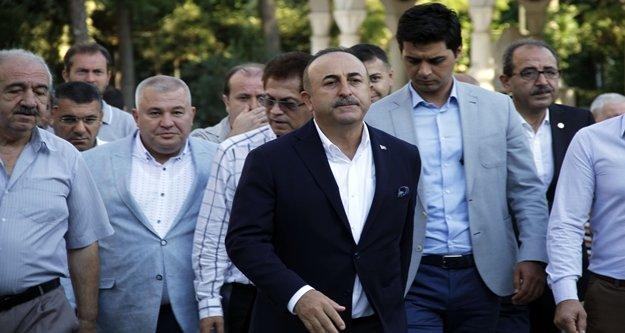 Bakan Çavuşoğlu bayramda baba ocağında