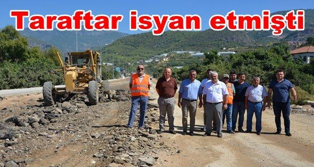 Oba Stadyumu yolunda asfalt hazırlıkları başladı