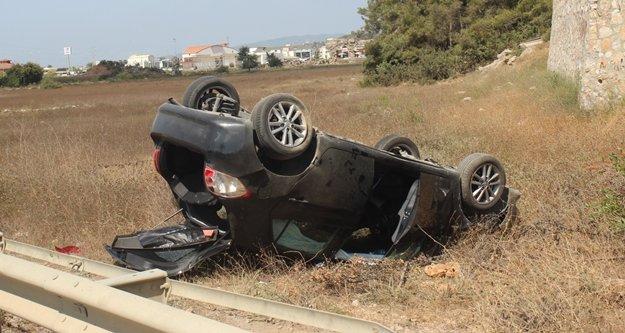 Otomobil takla attı:  1 kişi yaralandı