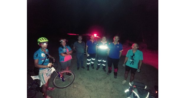 Yolunu kaybeden 3 kişiyi AFAD kurtardı