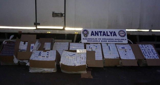 17 bin 320 paket kaçak sigara ele geçirildi