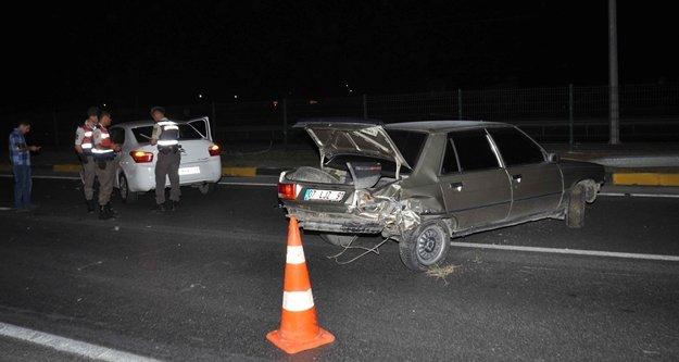 1 gecede 2 kaza: 2 yaralı var