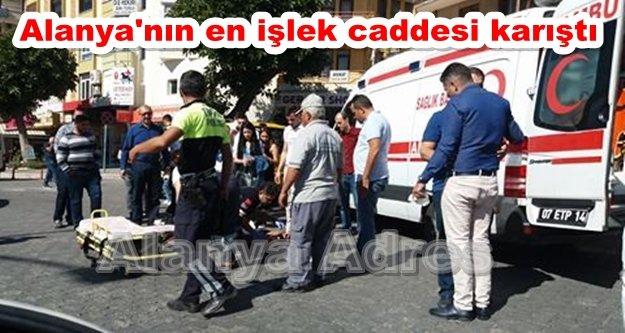 Alanya'da motosiklet kazası! 1 ağır yaralı var