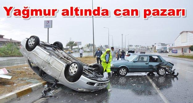 Alanya yolunda kaza: 2 yaralı var