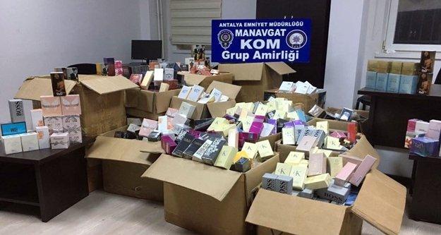 Bin 552 adet gümrük kaçağı parfüm ele geçirildi
