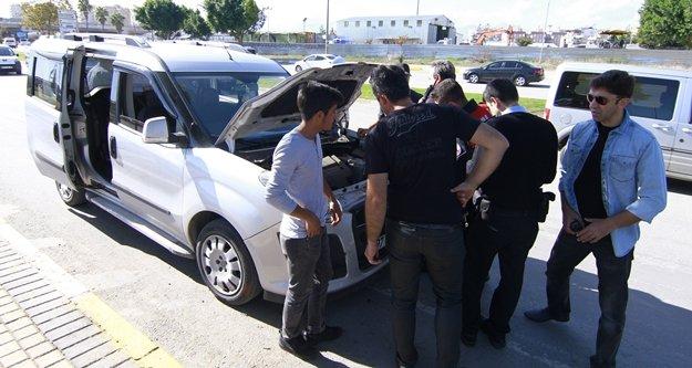 GPRS'ten 'trafikte' sinyali alınınca polis alarma geçti