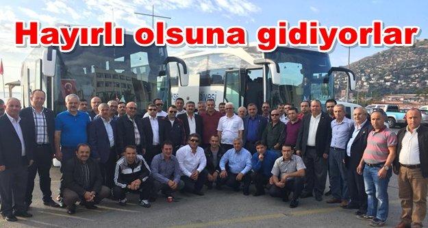 Hüseyin Güney ve muhtarlar İstanbul'a doğru yola çıktı