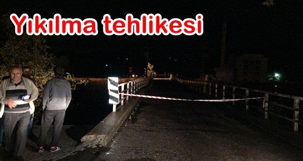 O köprü araç trafiğine kapatıldı