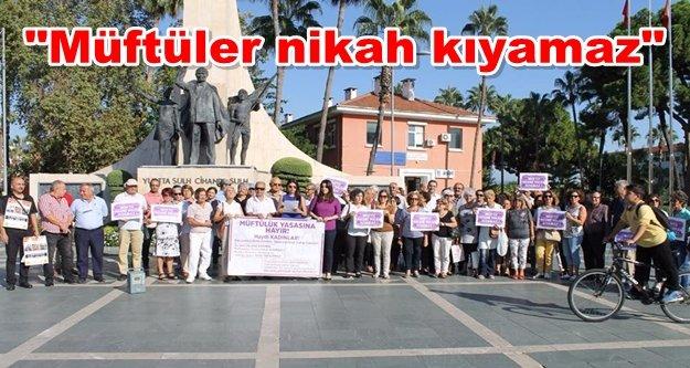 Yeni yasaya Alanya'dan protesto
