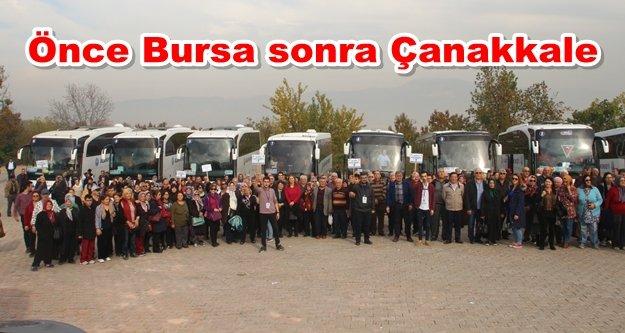 400 kişi Alanya'dan yola çıktı