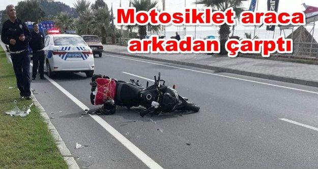 Alanya'da motosiklet kazası: 1 yaralı var