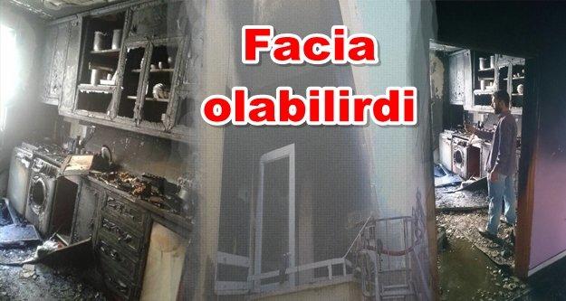 Alanya'da yangın paniği! Ev küle döndü