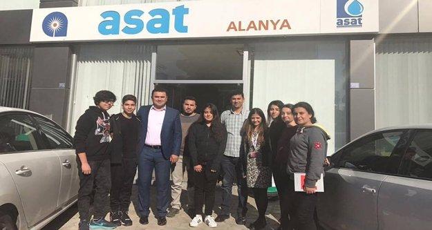 Bahçeşehir'li öğrencilerden ASAT'a ziyaret