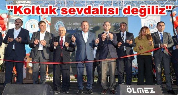Mevlüt Çavuşoğlu kampüse adının verilmesini kabul etmedi