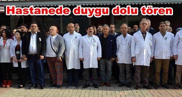 Sağlıkçılardan Atatürk'e saygı