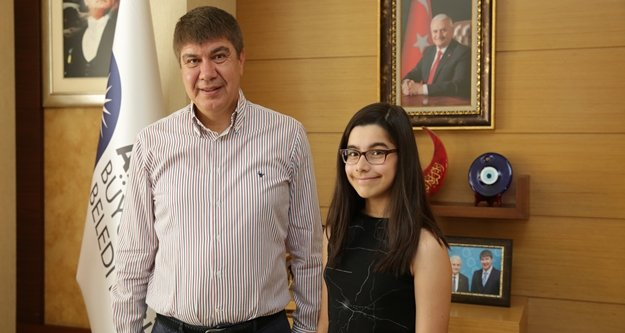 Türel'in ABD'ye gönderdiği Elif, eyalet birincisi oldu
