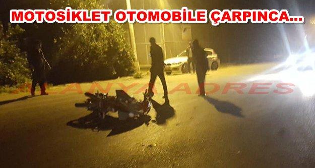 Alanya'da yine bir motosiklet kazası: 1 ağır yaralı var!