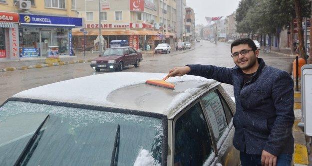 Antalya'nın ilk karı düştü
