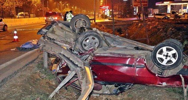 Bir kişinin can verdiği feci kazada sürücü alkollü çıktı