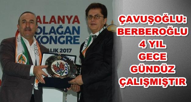 Çavuşoğlu'ndan Berberoğlu'na plaketli teşekkür