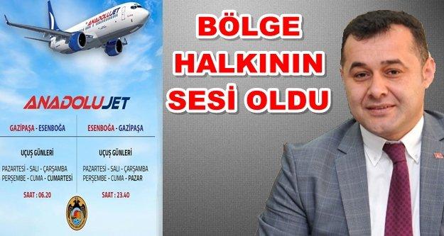 İşte GZP-Ankara arası yeni uçuş saatleri