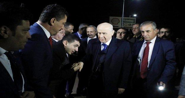 MHP Lideri Bahçeli geldi