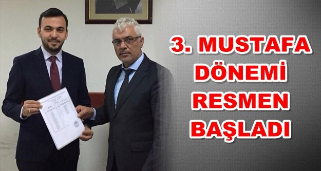 Mustafa Toklu mazbatasını aldı