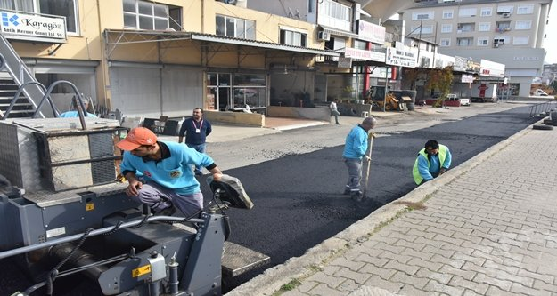 Sanayi Sitesi'ne sıcak asfalt