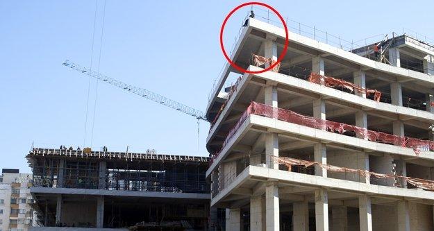 6 katlı inşaatta intihar teşebbüsü