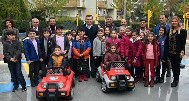 Alanya Belediyesi Trafik Eğitim Parkı yenilendi