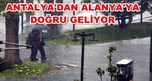 Alanya dikkat! Sağanak yağış ve dolu geliyor