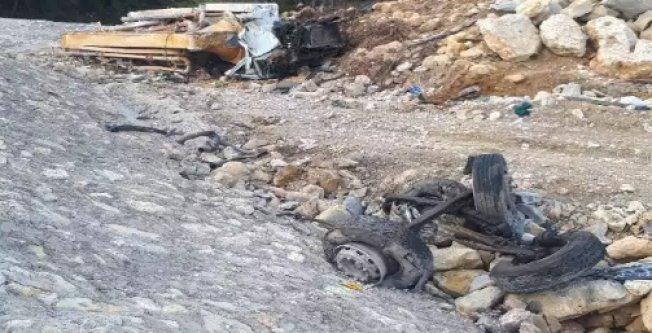 Beton pompası uçuruma yuvarlandı: 1 ölü var