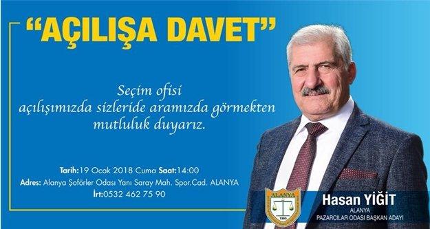 Hasan Yiğit'ten açılışa davet