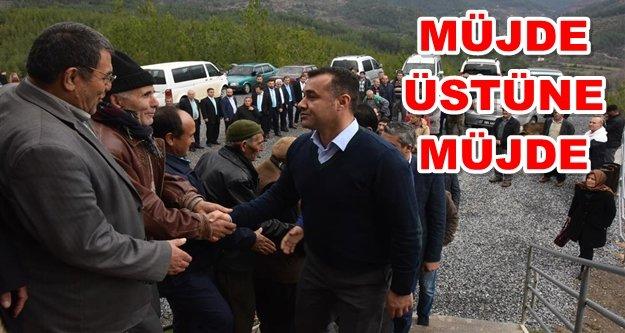 Tırılar'da Başkan Yücel'e sevgi seli