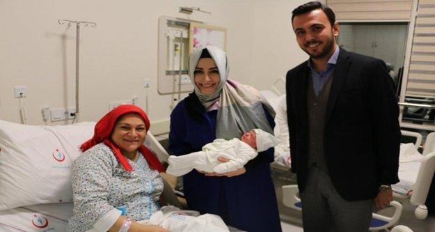 Vekil Çelik ve Başkan Toklu yeni yıla hastanede girdi