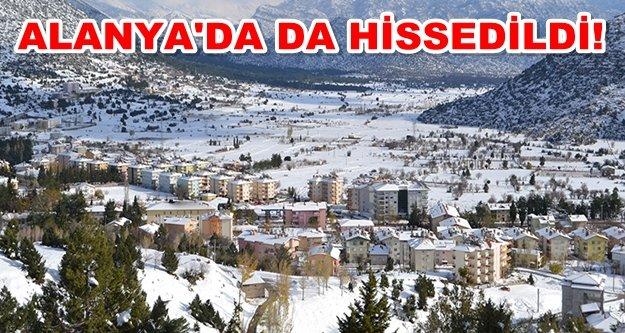 Akseki'de 3.5 büyüklüğünde deprem!