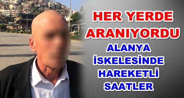 Alanya'da gasp suçundan aranan şahıs yakalandı