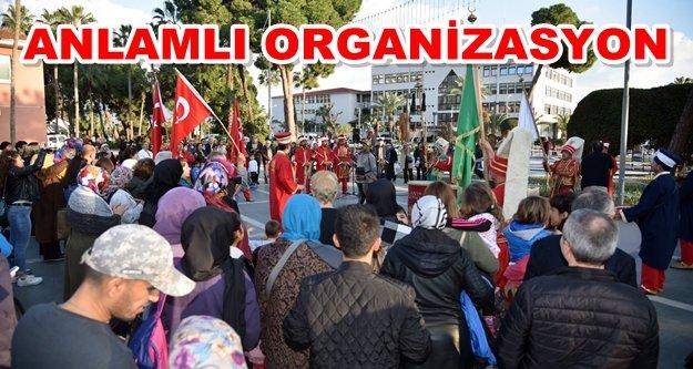 Alanya'dan Afrin'e mehterli destek