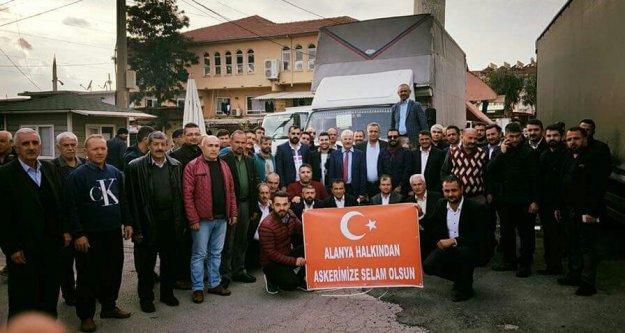 Alanya'dan Mehmetçiğimize anlamlı destek