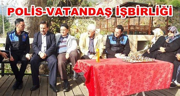 Alanya polisi Bektaş halkı ile buluştu
