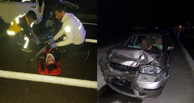 Feci trafik kazası: 2 yaralı var
