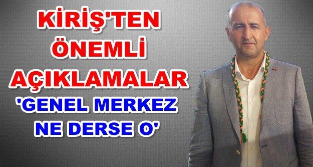 Kiriş'ten AKP-MHP ittifağı açıklaması