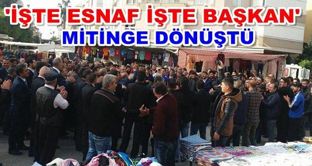Yiğit'ten 300 pazarcı ile gövde gösterisi