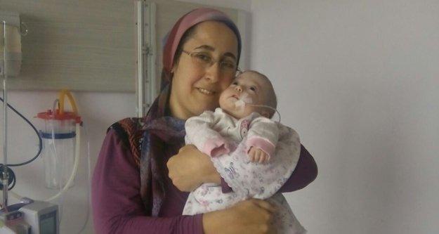 7 aylık Tuana bebeğin yaşam mücadelesi