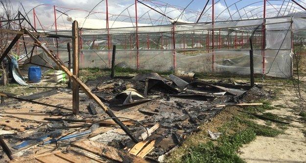 8 baraka ev yakıldı, seralara zarar verildi