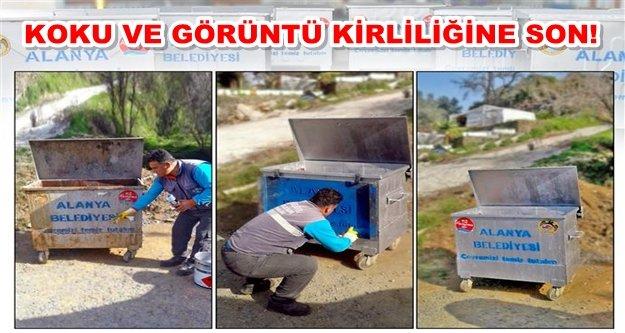 Alanya'nın çöp konteynerleri yenileniyor