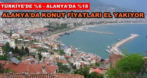 Konut fiyatlarında Alanya Türkiye'yi üçe katladı